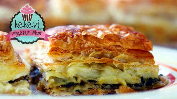 yufka ve milföylü ıspanaklı börek